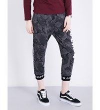 Aape By A Bathing Ape Relaxed Fit Jersey Jogging Bottoms Black Camo
