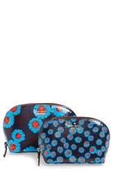 Kate Spade New York Tangier Floral Set Of 2 Cosmetic Cases