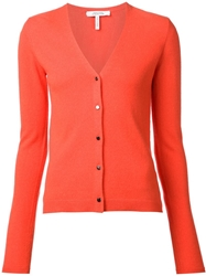 Schumacher V Neck Cardigan Yellow And Orange