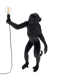 Seletti Monkey Standing Outdoor Lamp Black