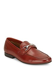 Saks Fifth Avenue Luciano Solid Leather Loafers Black