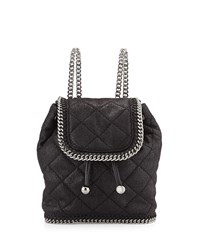 Falabella Mini Quilted Backpack Black Stella Mccartney