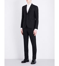 Thom Browne Notch Lapel Wool And Mohair Blend Tuxedo Black