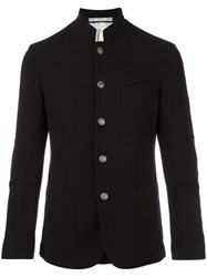 Massimo Alba Buttoned Jacket Black