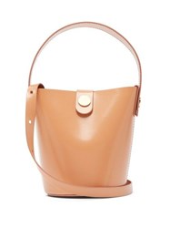 Sophie Hulme Nano Swing Leather Bucket Bag Nude
