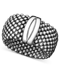 Macy's Mesh Ring In 14K Gold Vermeil Over Sterling Silver And Sterling Silver