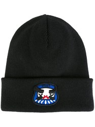 Dsquared2 Ribbed Mascot Beanie Black