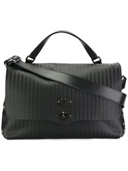 Zanellato Textured Shoulder Bag Black