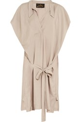Vivienne Westwood Anglomania Bee Gathered Washed Poplin Mini Dress Taupe