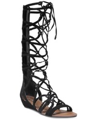 Carlos By Carlos Santana Kalee Lace Up Wedge Sandals Women's Shoes Black
