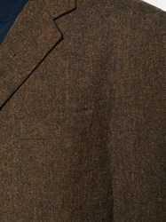 Romeo Gigli Vintage Tailored Fitted Blazer Brown