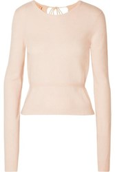 Brock Collection Open Back Cashmere Sweater Pastel Pink