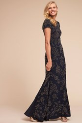 Anthropologie Andes Wedding Guest Dress Navy