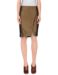 Gianfranco Ferre Ferre' Denim Skirts Light Brown