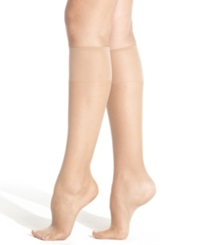 Hanes Silk Reflections Knee Highs Sheers Jet