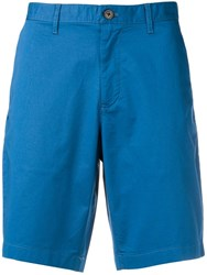 Michael Kors Collection Classic Chino Shorts Blue