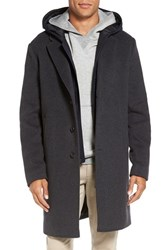 Vince Men's Wool Blend Storm Coat With Detachable Hooded Bib