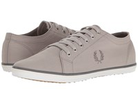 Fred Perry Kingston Twill 1964 Silver Porcelain Falcon Grey Men's Lace Up Casual Shoes Gray