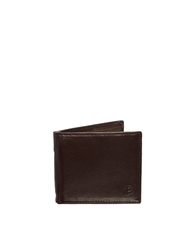 French Connection Leather Billfold Wallet Brown