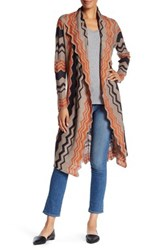 14Th And Union Wave Long Cardigan Petite Brown