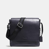 Coach Metropolitan Map Bag In Sport Calf Leather Black Antique Nickel Midnight