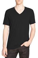 Men's James Perse Short Sleeve V Neck T Shirt Black