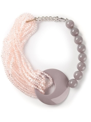 Armani Collezioni Resin Beaded Bracelet Grey
