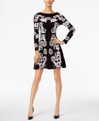 Inc International Concepts Floral Sweater Dress Only At Macy's Black