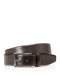 Hugo Boss Gerron Leather Belt Dark Brown