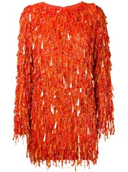 Ashish Casino Sequin Dress Yellow And Orange