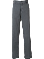 120 Lino Textured Straight Leg Trousers Grey
