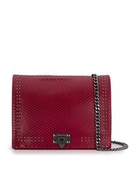 Marc Ellis Snakeskin Effect Shoulder Bag Red