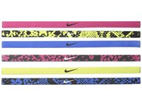 Nike Printed Headbands Asst 6 Pack Sport Fuchsia Game Royal Athletic Sports Equipment Multi