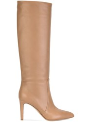 Gianvito Rossi Knee Length Boots Nude Neutrals