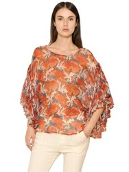 Mes Demoiselles Volage Printed Crinkled Viscose Top