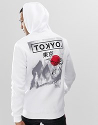 Your Turn Yourturn Hoodie In White With Back Print