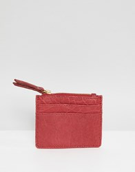 Urbancode Leather Coin Purse With Card Holder Deep Red 3