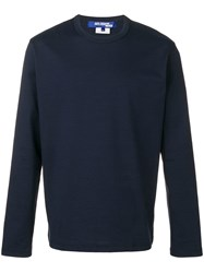 Junya Watanabe Man Crew Neck Sweater Blue