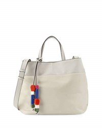 French Connection Ace Bead Tassel Tote Bag Cream