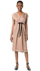 Zero Maria Cornejo Pleat Nola Dress Latte