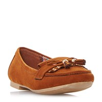 Head Over Heels Gala Stud Fringe Loafers Tan