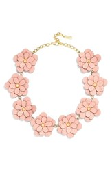 Women's Baublebar 'Zoe' Leather Flower Collar Necklace Pink Gold