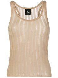 Michel Klein Sleeveless Knit Top Nude And Neutrals