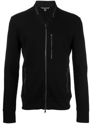 John Varvatos Zipped Cardigan Black