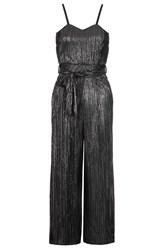 Quiz Black Pleated Culotte Jumpsuit Black
