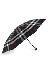 Burberry 'Trafalgar' Check Folding Umbrella