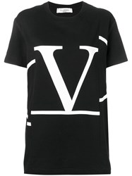 Valentino Deconstructed Go Logo T Shirt Black
