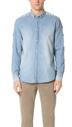Iro Vince Denim Destroy Shirt Blue Washed