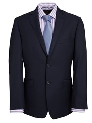 Paul Costelloe Navy Semi Plain Suit Jacket Blue