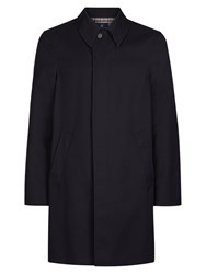 Aquascutum London Broadgate Single Breasted Raincoat Navy